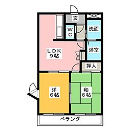 アーバンコート富士II[1階]の間取り