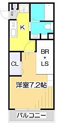 埼玉県川越市三光町の賃貸アパートの間取り