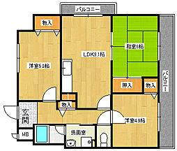 パルOM[2階]の間取り