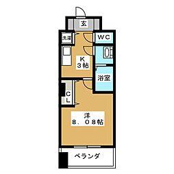 レジディア京都駅前[2階]の間取り