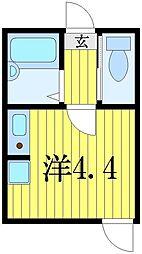 東京都葛飾区金町3の賃貸アパートの間取り