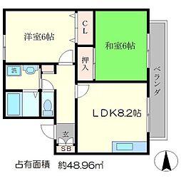 セジュールいま井II[1階]の間取り