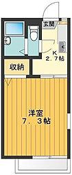 東京都八王子市丹木町3丁目の賃貸アパートの間取り