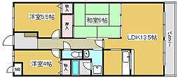 兵庫県加古川市加古川町本町の賃貸マンションの間取り