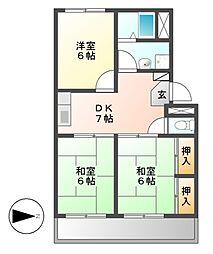 グランドメゾン鈴正II[2階]の間取り