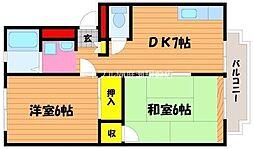メゾンカルム青江[1階]の間取り