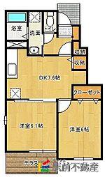ストロベリーA[1階]の間取り