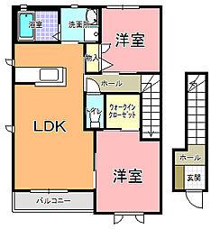 NKアムール II[201号室]の間取り