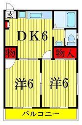 三和ハイツ[2階]の間取り