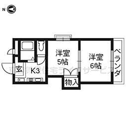 プリマベーラ西京極(旧ハウスセゾン西京極[205号室]の間取り