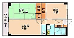ハイムGLORY[5階]の間取り