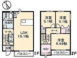 クラヴィエ A棟[1階]の間取り
