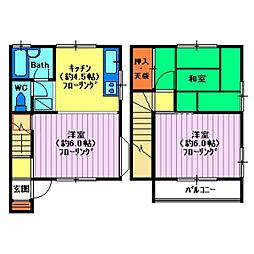 [テラスハウス] 埼玉県川越市砂 の賃貸【/】の間取り