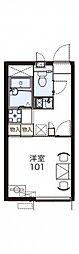 レオパレスアドバンテージ明石[2階]の間取り