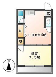 コーポ寿[2階]の間取り