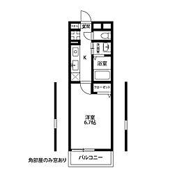 アムール 横須賀中央[207号室]の間取り