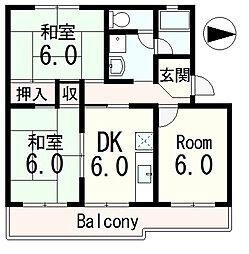 コンステラ・ベガ若葉台[4階]の間取り