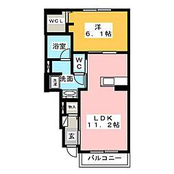 クラルスII[1階]の間取り