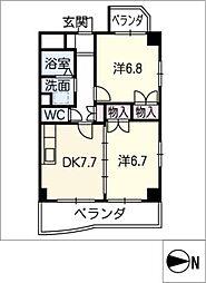 ゴールドハウス[4階]の間取り