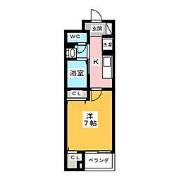 静岡県静岡市清水区辻1丁目の賃貸マンションの間取り