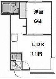 北海道札幌市西区八軒五条西3の賃貸アパートの間取り