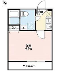JR横浜線 十日市場駅 徒歩5分の賃貸アパート 3階1Kの間取り
