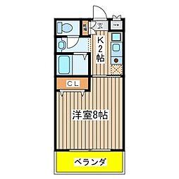シャルムアビテ[2階]の間取り