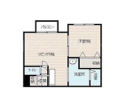 北海道札幌市西区二十四軒三条5丁目の賃貸マンションの間取り