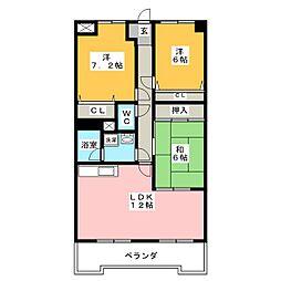 オーキッドマンション星崎[2階]の間取り