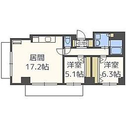 北海道札幌市中央区南三条西23丁目の賃貸マンションの間取り