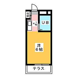 メゾン・ド・テルム[3階]の間取り