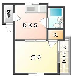 シャトー淀[3階]の間取り