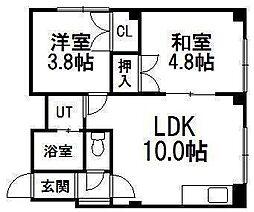 リバストーリーD棟[4階]の間取り
