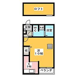 ベネフィスタウン井尻2[2階]の間取り