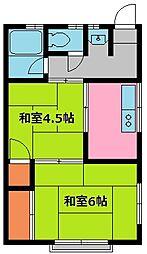 王子荘[3号室]の間取り