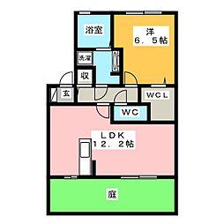 ドレクシア庄野[1階]の間取り