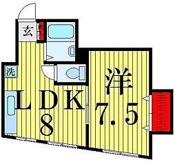 第一富士マンション[203号室]の間取り