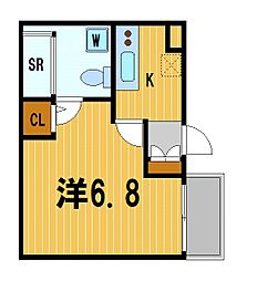 神奈川県横浜市南区吉野町2丁目の賃貸アパートの間取り
