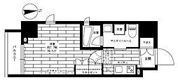 都営大江戸線 新御徒町駅 徒歩5分の賃貸マンション 4階1Kの間取り
