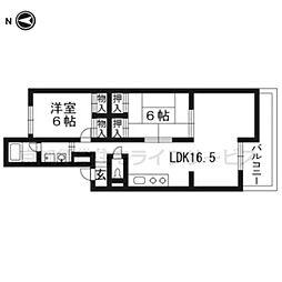シャトレ月輪[3階]の間取り