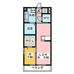 仮)D-room四十九町[3階]の間取り