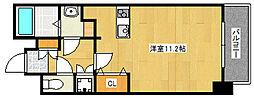 阪急神戸本線 王子公園駅 徒歩9分の賃貸マンション 2階ワンルームの間取り