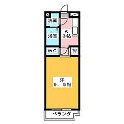 幸マンション[1階]の間取り