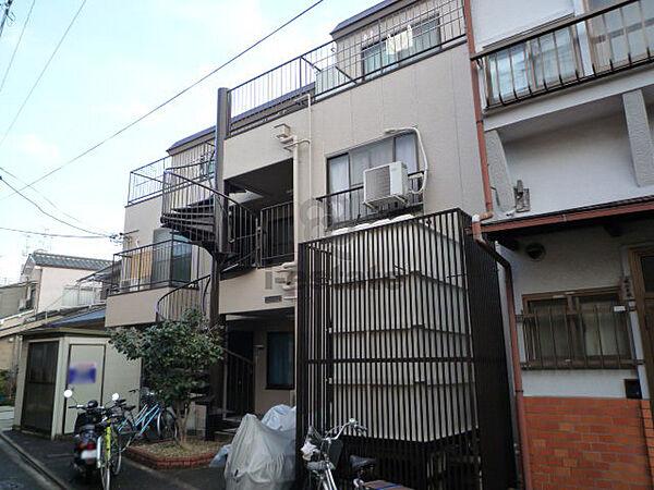 京都府京都市左京区吉田下阿達町の賃貸アパートの外観