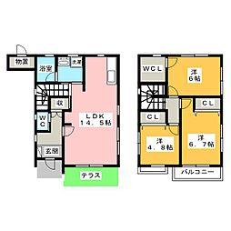 [テラスハウス] 静岡県富士市厚原 の賃貸【静岡県 / 富士市】の間取り