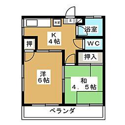コーポ新苑[2階]の間取り