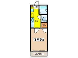 東京都府中市南町3丁目の賃貸アパートの間取り