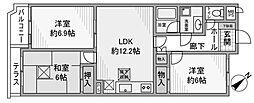 コートハウス町田[1階]の間取り