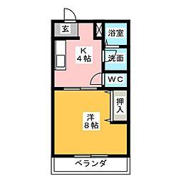 メディオハイツII[1階]の間取り