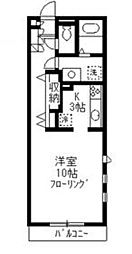 東京都港区西麻布4丁目の賃貸アパートの間取り